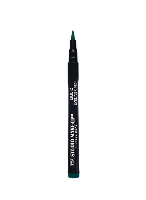 Tca Studio Make Up Lıquıd Eyelıner Pen 04 Green Renkli